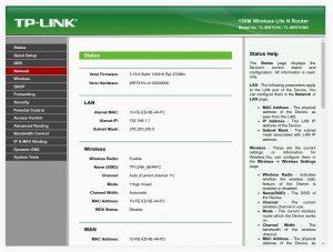 Administrace routeru po přihlášení, klikněte na Network